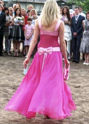 Выпускное платье принцессы розовое