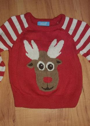 Новогодний рождественский свитшот свитер детский