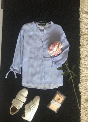 Легкая рубашечка небесного цвета