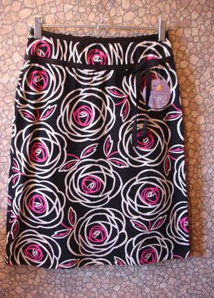 """Легкая юбка с высоким поясом """"florence & fred"""" 10 р"""