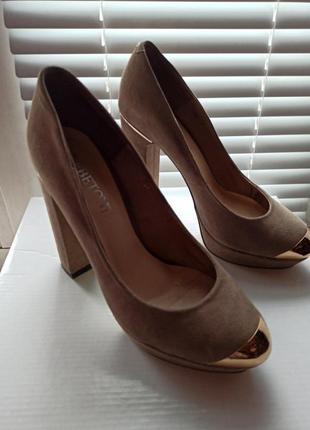 Туфли замш нарядные