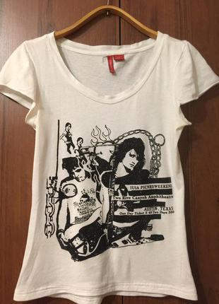 Классная белая футболка от castro