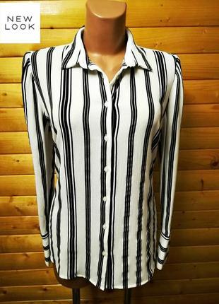 63. классическая  офисная  блузка в черную полоску популярной британской марки new look.