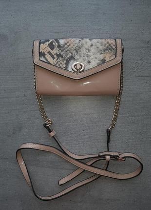 Стильная маленькая лаковая сумочка кошелек  moda in pelle