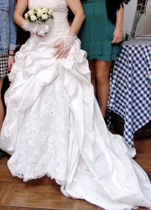 Шикарное свадебное платье из франции 🇫🇷
