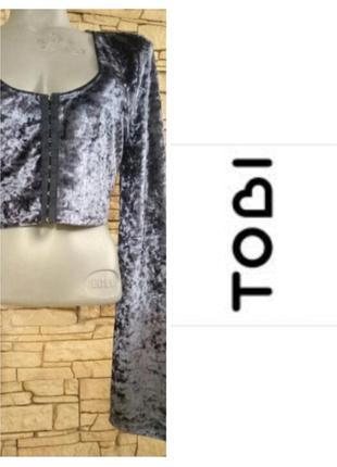 Велюровая блуза,кроп топ