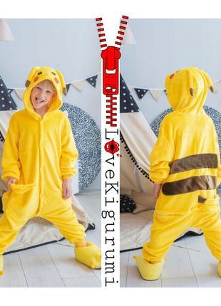 🎁оригинальные яркие пижамы кигуруми🤩 покемон пикачу для мальчиков и девочек