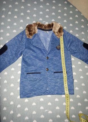 Флисовый пиджак на мальчика, 98-104 см