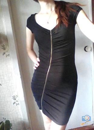 Ассиметричное платье bershka с молнией