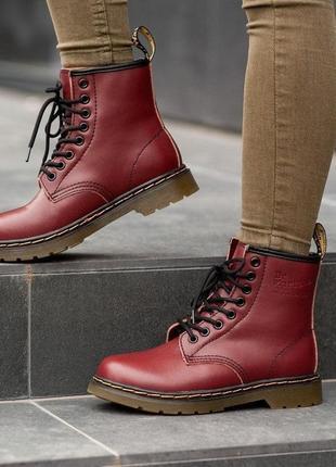 Шикарные женские ботинки dr. martend 1460 fur