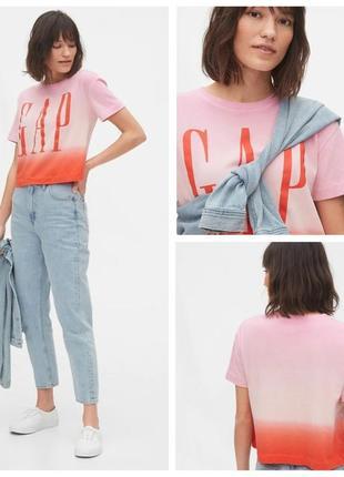 Яркая укороченная женская футболка оригинал gap