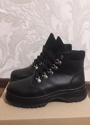 Зимние кожаные ботинки р.36-41