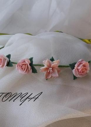 Венок с цветами, обруч с цветами. ободок с цветами