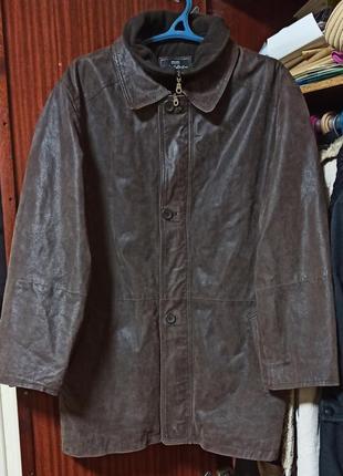 Мужская куртка из свиной кожи.