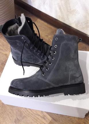 Ботинки замш зима р.36-41