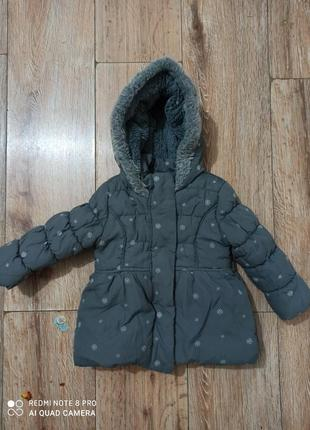 Теплая курточка 6а девочку