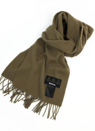 Barbour lambswool woven scarf мужской шарф