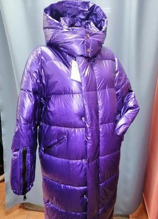 Стильная зимняя куртка удлинённая курточка пальто пуховик зима