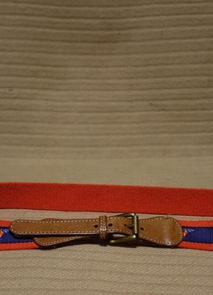 Комбинированный текстильно-кожаный ремешок ( длина 90 см.)