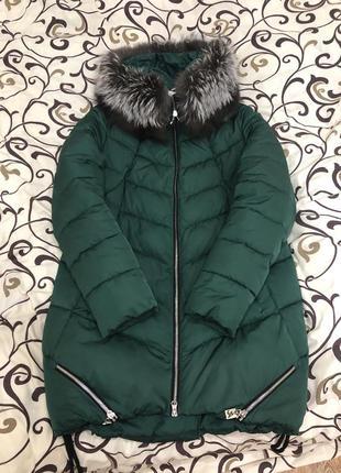 Зимний тёплый пуховик