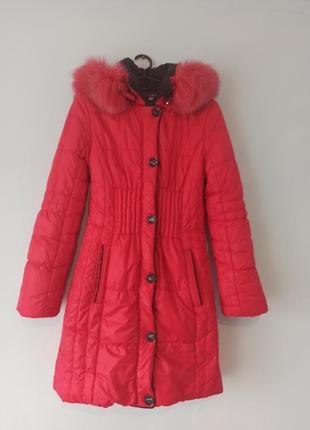 Пальто зимнее, детское. размер 44.