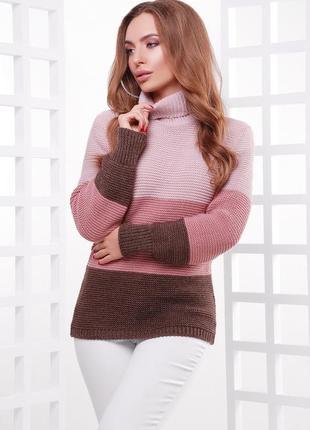 Удлиненный свитер под горло * полушерсть*(6 цветов)* отличное качество