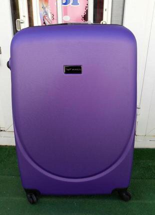 Валіза пластикова без передплат чемодан пластиковый дорожный сумка на колесах киев