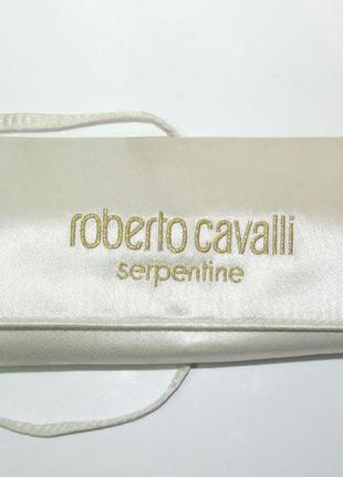 Футляр для очков ключей клатч ключница roberto cavalli айвори шелк