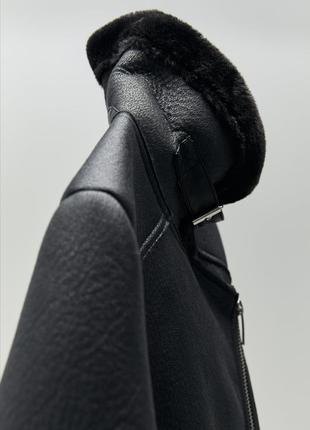 Дублёнка косуха авиатор zara куртка курточка зима3 фото