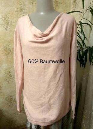 Patrizia-dini-germany вязанный джемпер пуловер декольте ніжний рожевий пудра