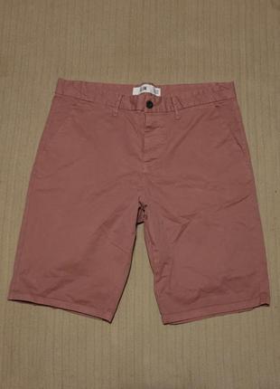 Узкие х/б шорты сиреневого цвета new look slim англия 34 r.