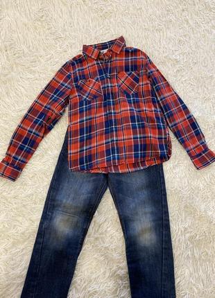 Рубашка  h&m 7-9 лет