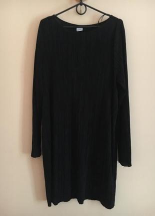 Батал большой размер шикарное чёрное нарядное платьице плаття платье