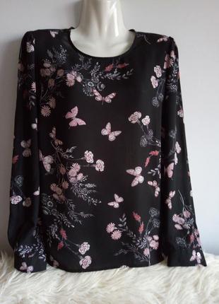 Оригинальная блуза, с бабочками, george, р. 12/l