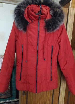 Куртка теплая, синтепон, 44-46, холодная осень, теплая зима, пуховик