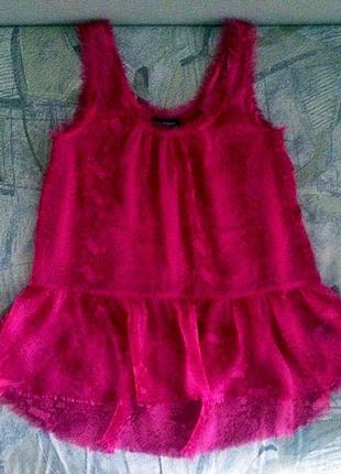 Стильная блуза туника kappahl цвет марсала s m