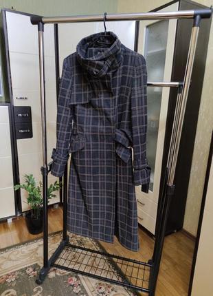 Осеннее пальто в клетку topshop