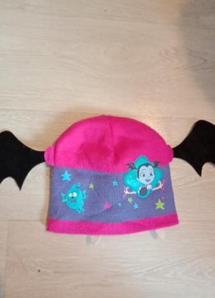 Шапка с ушками летучей мыши стильная шапка монстер хай