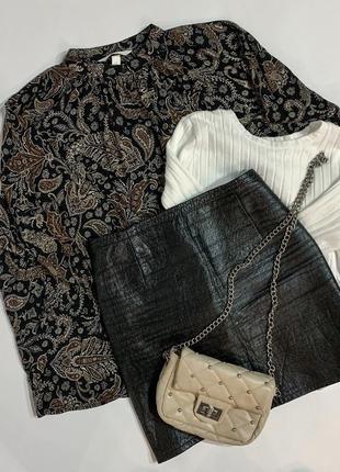 Чорна п'ятниця  кожаная юбка, шкіряна спідниця