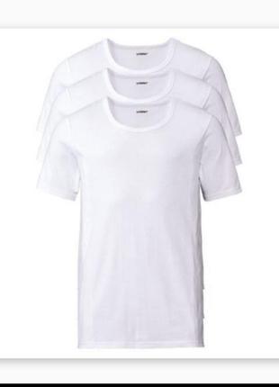 Комплект белых нательных футболок livergy 3 шт, размер хл