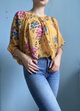 Шикарная винтажная блузка
