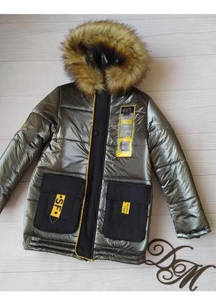 Подросток зимняя куртка для мальчика