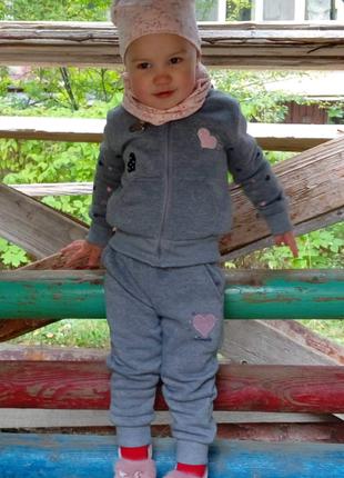 Детский теплый спортивный костюмчик р. 92-98