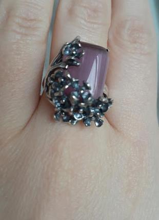 Нежный серебряный комплект с фиолетов улекситом 18 р