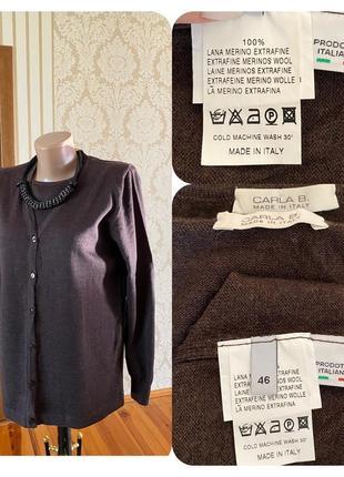Италия 💯 % шерсть мериноса мягенькая кофта двойка кардиган свитер джемпер