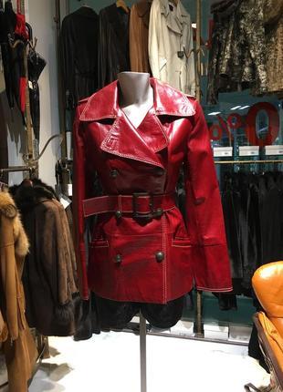 Adamo натуральна кожаная куртка-тренч