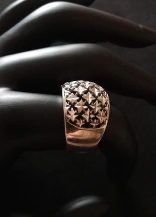 Серебряное кольцо б/у р.19 # кольцо серебряное лот 317