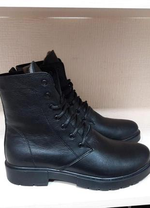 Зимние кожаные ботинки! суперцены!