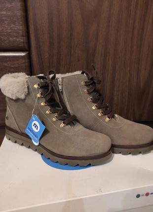 Теплі замшеві черевички