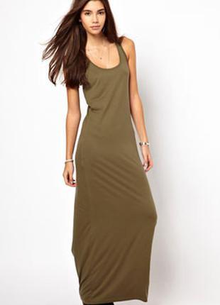 Обтягивающие платье, платье майка, платье миди